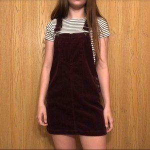 corduroy overalls dress